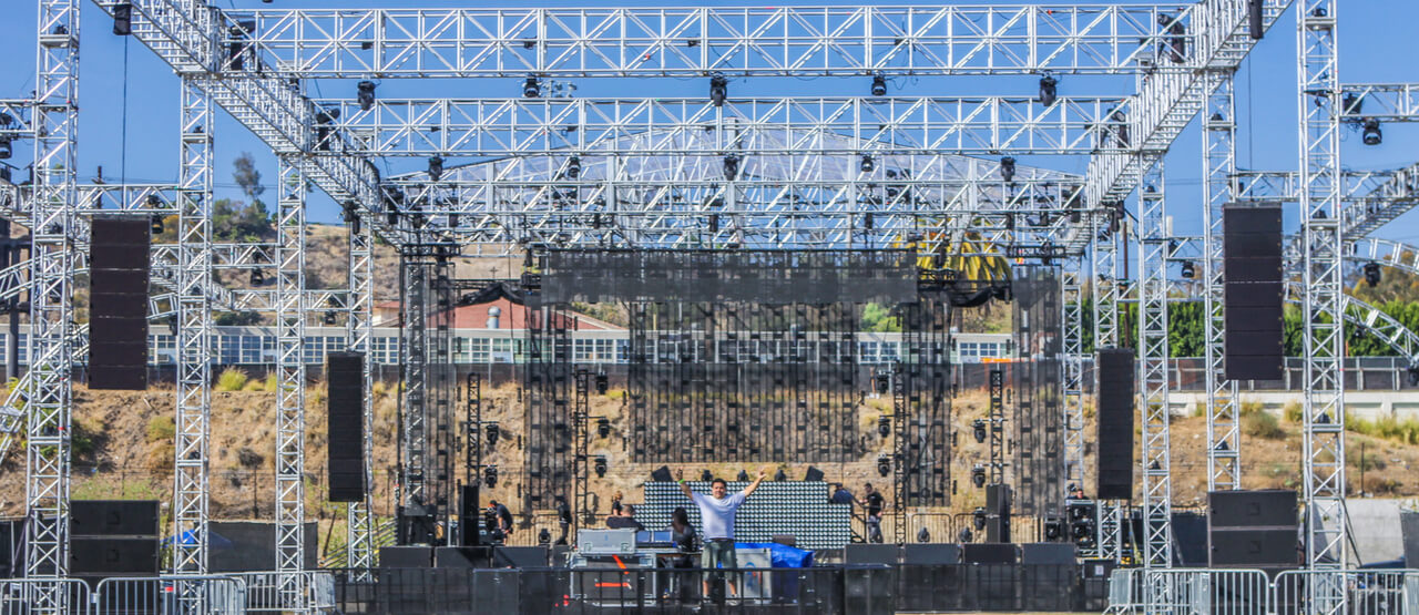 Sound Equipment Rental Los Angeles Music Festivals Concerts Live Shows FORCE FIELD INC